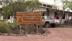 P03090 Darwin Research Center on Galapagos Islands Stock Footage