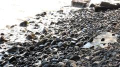 Crushing waves at shore Stock Footage