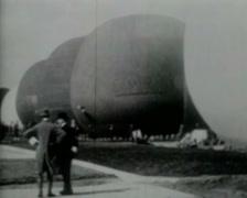 1921 - Gordon Benett - Balloon Race - 01 Stock Footage