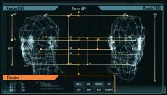 Digital interface screen (intro + loopable part) Stock Footage