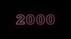 2000-2014 LEDS Count 01 - stock footage