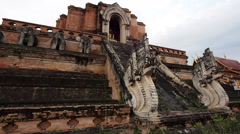 Wat Chedi Luang in Chiang Mai, Thailand - stock footage