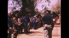Vietnam War - Farmers Army Training - 01 Stock Footage