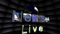 "Stock Video Footage of ""News Live"" Television News Promo"