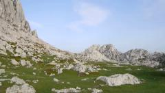 AERIAL: flying around karst, rocky landscape - stock footage
