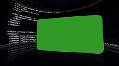 HTML Room and Green Screen Monitor, with Alpha Channel Stock Footage