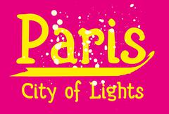 paris city slogan vector art - stock illustration