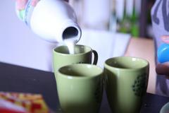 Milk Pouring Stock Photos