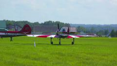 Airshow preparations Stock Footage