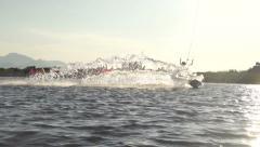 SLOW MOTION: kiteboarder - stock footage