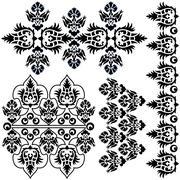 Ottoman serial patterns eight Stock Illustration