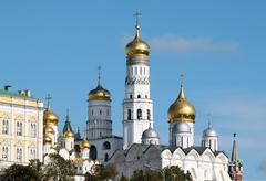 Ivan the great bell in the moscow kremlin Stock Photos