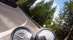 Motorbike in dolomites - stock footage