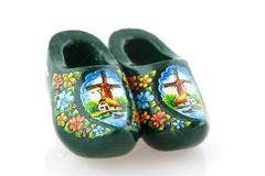 typical dutch clogs - stock photo