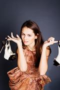 young woman with high heels - stock photo