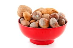 Diversity of nuts Stock Photos