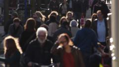 Street crowd Stock Footage