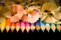Birth of pencils Stock Photos