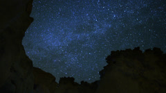 4K Draconids Meteor Shower 14 Dolly Rotate L Milky Way Timelapse Mojave Desert Stock Footage
