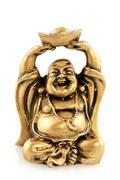 Funny golden buddha Stock Photos