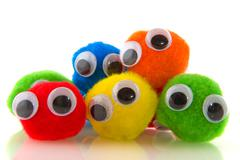 Colorful curious people Stock Photos