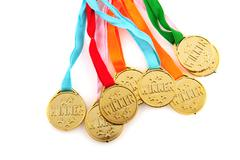 Medals for the winner Stock Photos