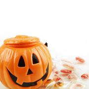 pumpkin and sweets - stock photo