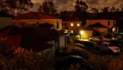 Town houses night time lapse - stock footage