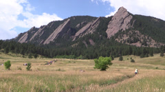 P02973 Hiking and Outdoor Recreation in Boulder Stock Footage