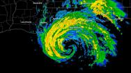 Stock Video Footage of Hurricane Gustav (2008) Landfall Time Lapse