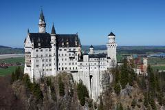 palace neuschwanstein, bavaria, germany - stock photo