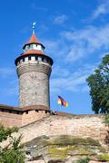 Sinwell Tower at Nuremberg Imperial Castle - stock photo