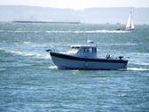 Stock Photo of sport fishing boat on san francisco bay