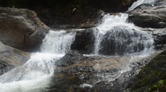 Deep forest waterfall at kenyir lake Stock Footage