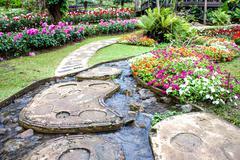 mae fah luang garden,locate on doi tung, chiangrai province, thailand - stock photo