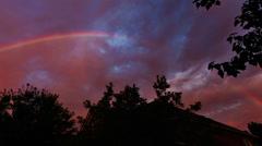 rainbows sky rainbow - stock footage