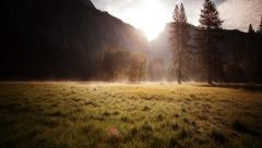 Yosemite Valley Sunrise time lapse - stock footage