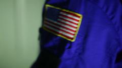 American patch flight suit pilot Stock Footage