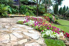 mae fah luang garden,locate on doi tung, chiangrai province, thailand - stock photo