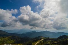 Cloud timelapse at high mountain Stock Footage