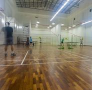 Badminton courts Stock Photos