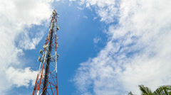 Communications Tower With Cloud Time Lapse - stock footage
