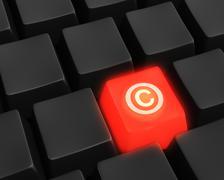 digital copyright - stock illustration