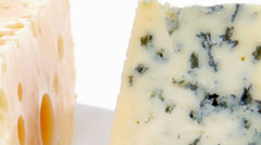 Parmesan roquefort and gruyere Stock Footage