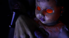 Horror Baby with glowing eyes! Stock Footage