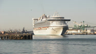 Stock Video Footage of Cruise Ship Golden Princess Leaves Port