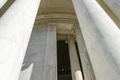 entry at the jefferson memorial in washington dc - stock photo