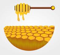 Liquid honey jar vector art design Stock Illustration