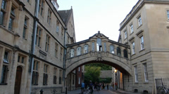 Hertford Bridge also known as Bridge of Sighs Oxford(OX UN ST SC-34 br of sighs) Stock Footage