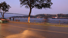 A pleasant driving around Bosporus Stock Footage